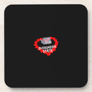 Candle Heart Design For The State of Washington Coaster