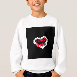Candle Heart Design For Vernon, Texas Sweatshirt