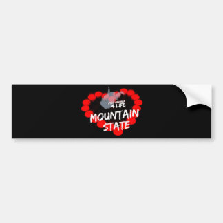 Candle Heart Design For West Virginia State Bumper Sticker
