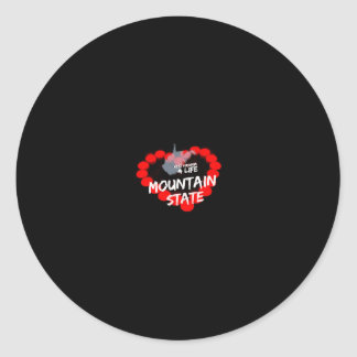 Candle Heart Design For West Virginia State Classic Round Sticker