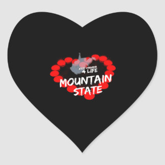 Candle Heart Design For West Virginia State Heart Sticker
