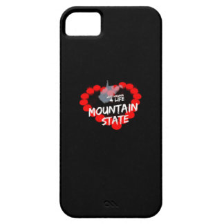 Candle Heart Design For West Virginia State iPhone 5 Case