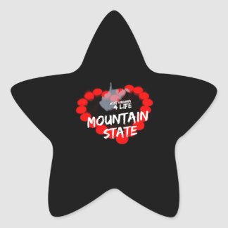 Candle Heart Design For West Virginia State Star Sticker