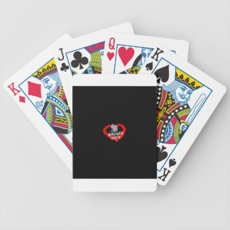 Candle Heart Design For Wisconsin State Bicycle Playing Cards