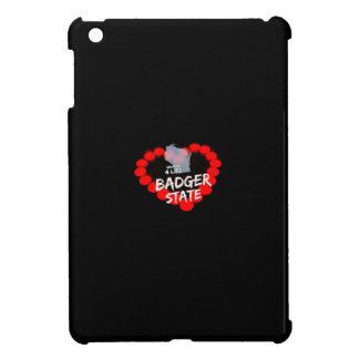 Candle Heart Design For Wisconsin State iPad Mini Case