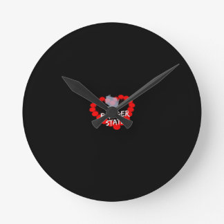 Candle Heart Design For Wisconsin State Round Clock