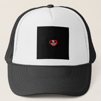 Candle Heart Design For Wisconsin State Trucker Hat