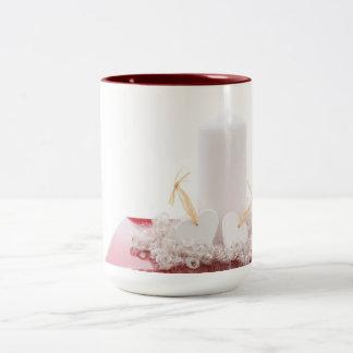 Candle & Hearts Two-Tone Mug