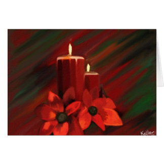 Candle Holiday Card