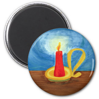 Candle in the Dark 6 Cm Round Magnet