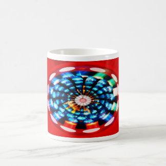 Candle light burst basic white mug