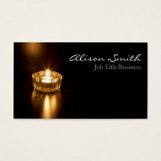 Candle/light business cars business card