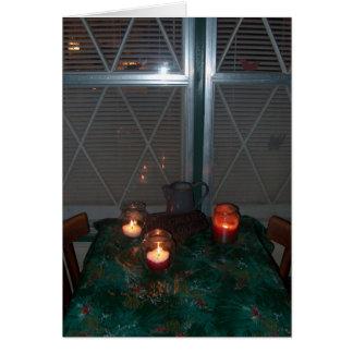 Candle light - Christmas Card - Customized