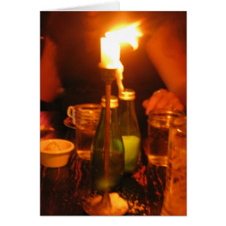 candle light dinner card