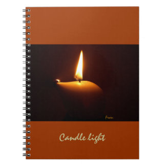 candle light notebook