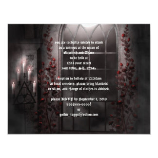 Candle Light Roses Goth Wedding Invitation