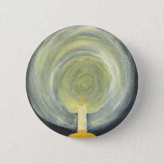 Candle lighting up the Night 6 Cm Round Badge