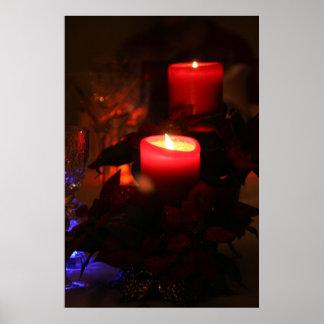 Candle Lights Dinner Postcard Poster