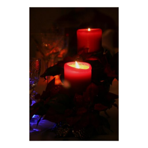 Candle Lights Dinner Postcard Posters