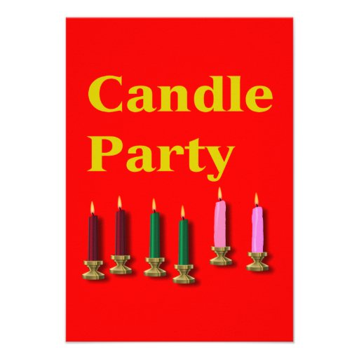 Candle Party Invitation Card