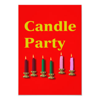 "Candle Party Invitation Card 3.5"" X 5"" Invitation Card"