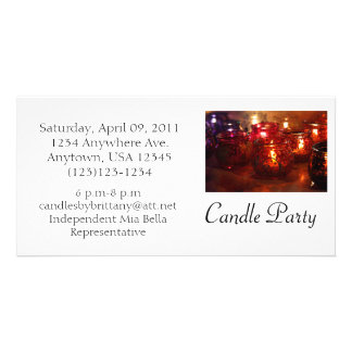 Candle Party Photo Invite Picture Card