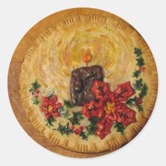 Candle Pie Round Sticker