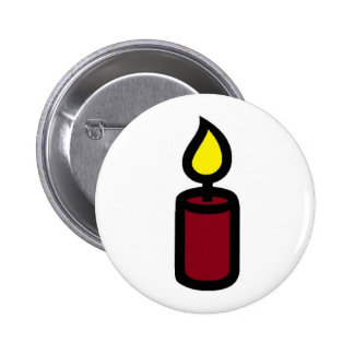 CANDLE PINBACK BUTTON