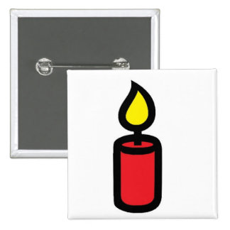 candle red pinback button