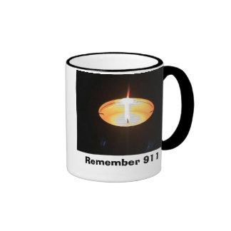 candle, Remember 911 Ringer Mug