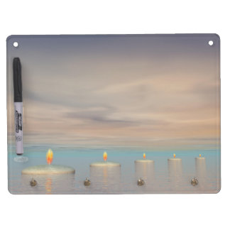 Candle steps - 3D render Dry Erase Board With Key Ring Holder