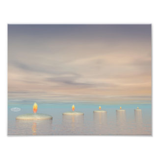 Candle steps - 3D render Photo Print