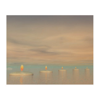 Candle steps - 3D render Wood Wall Art