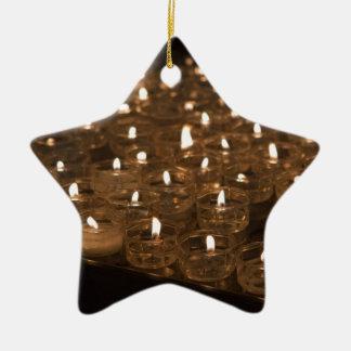 candle votives ceramic star decoration