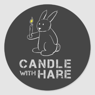 Candle With Hare - sticker
