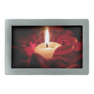 Candlelight and Roses Belt Buckle