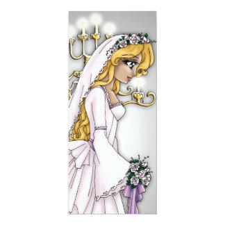 "Candlelight Bride Invitation 3 4"" X 9.25"" Invitation Card"