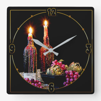 Candlelight Clock - Bottles with Candles/grapes