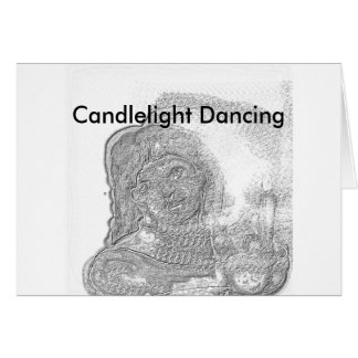Candlelight Dancing Card