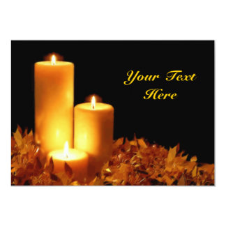 """Candlelight in Soft Pastels Customizable 5"""" X 7"""" Invitation Card"""