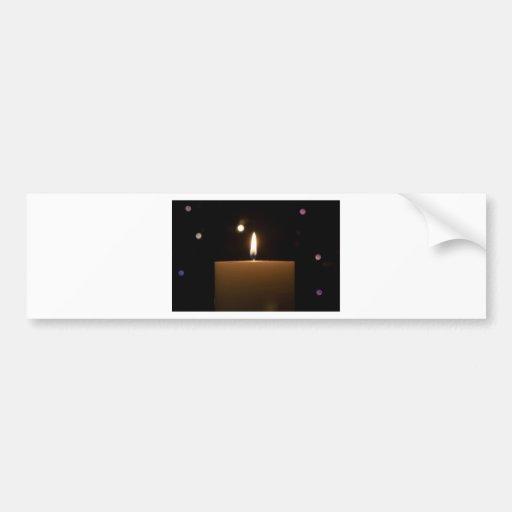 Candlelight Romance Love Destiny Glow Bumper Sticker