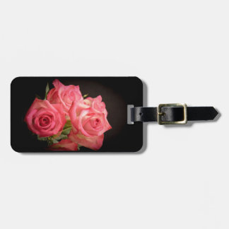 Candlelight Roses Luggage Tag