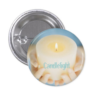 Candlelight Small 3 Cm Round Badge