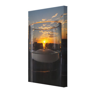 Candlelight Sunset Canvas Print