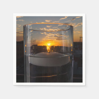 Candlelight Sunset Disposable Napkin
