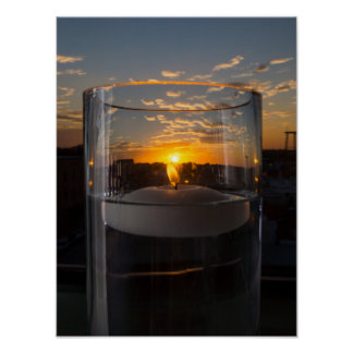 Candlelight Sunset Poster