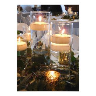 Candlelight wedding invitation