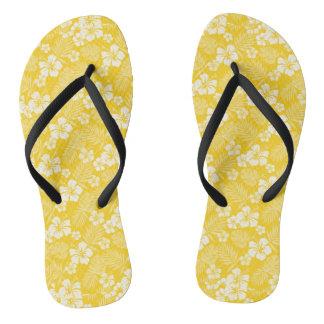 Candlelight Yellow Hawaiian Flip Flops