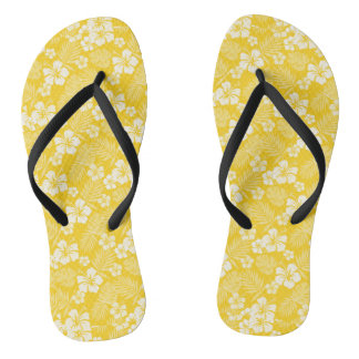 Candlelight Yellow Hawaiian Flip Flops Thongs