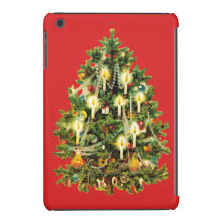 Candlelit Christmas Tree Ornaments Garland iPad Mini Covers